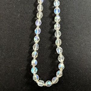 EUC ~ VINTAGE AB Bicone Crystal Necklace